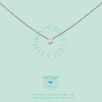 Necklace Circle Zirkon, Circle Of Love & Happiness Silver