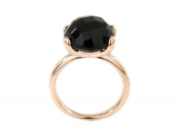 Faceted stone black 54
