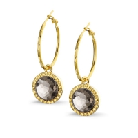 Earring Silver Gold Pina 2.5cm