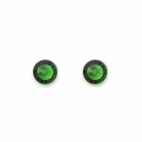 Earrings With Stickpin Green