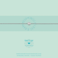 Bracelet, Circle Zirkon, Circle Of Love & Happiness Silver