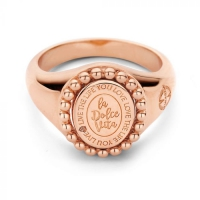 Soho Ring 54 Silver RoseGold Plated Oval