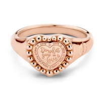 MVV Queen Ring RoseGoldplated 58